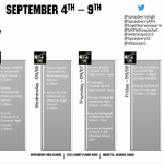 Athletics Calendar for 9-4 to 9-9!