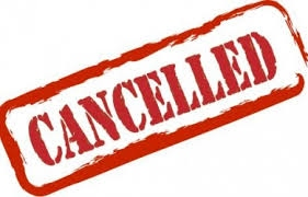 ACTIVITIES CANCELLED!