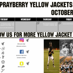 Yellow Jackets Athletics for October 2-7, 2017!