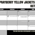 October Athletics Calendar