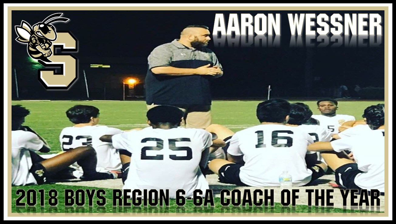 Aaron Wessner named Region 6-6A Coach of the Year!