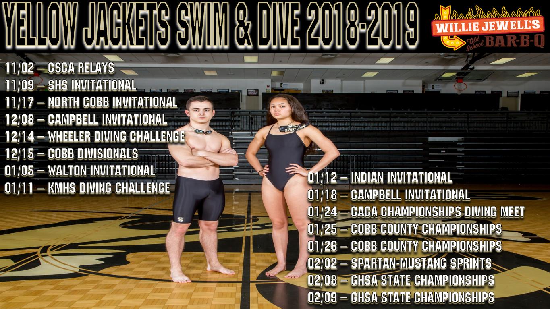 2018-2019 Varsity Swim & Dive Schedule