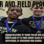 Taylor and Field Place at Indian Invitational!