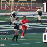 Girls Varsity Soccer beats Cambridge 1 – 0