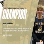 Josh Sanders WINS County Wrestling Championship!