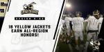 18 Yellow Jackets Earn 🏈 All-Region Honors!