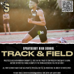 Track & Field Practices Begins Monday January 11, 2021!
