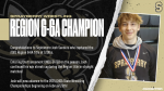 Josh Sanders…2021 Region 6-6A Champion at 120lbs!
