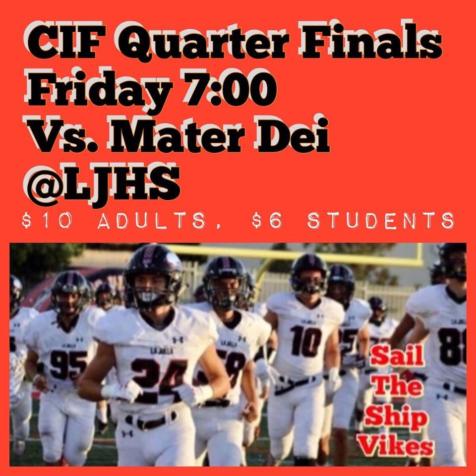 FOOTBALL CIF PLAYOFF GAME
