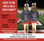 Cheer Tryouts Scheduled for August 3rd