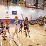 Girls 8th Grade Basketball falls to Indian Springs Middle School 50 – 2
