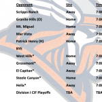 Valhalla Football Schedule 2016