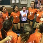 Valhalla High School Girls Freshman Volleyball beat Helix High School 2-0