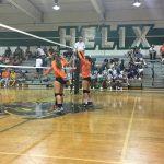 Valhalla High School Girls Varsity Volleyball beat Helix High School 3-1