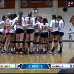 Valhalla High School Girls Varsity Volleyball falls to West Hills High School 3-2