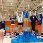 Girls Varsity Gymnastics finishes 3rd place at League Finals