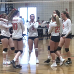 Girls Varsity Volleyball beats West Hills