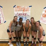 Varsity Volleyball beats Helix on Senior Night