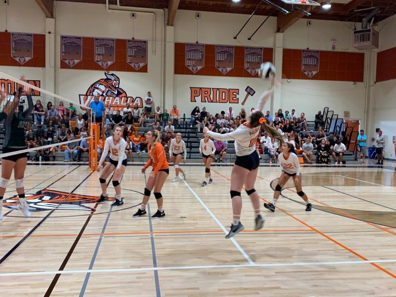 Girls Volleyball beats Helix in Home Opener
