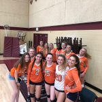 Girls Varsity Volleyball falls to Bishops 2 – 1