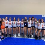 Girls Varsity Volleyball goes 2-1 in pool play of the first day of the Nike TOC
