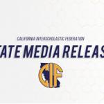 State CIF Press Release