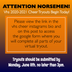 VHS Cheer Tryouts Begin TODAY