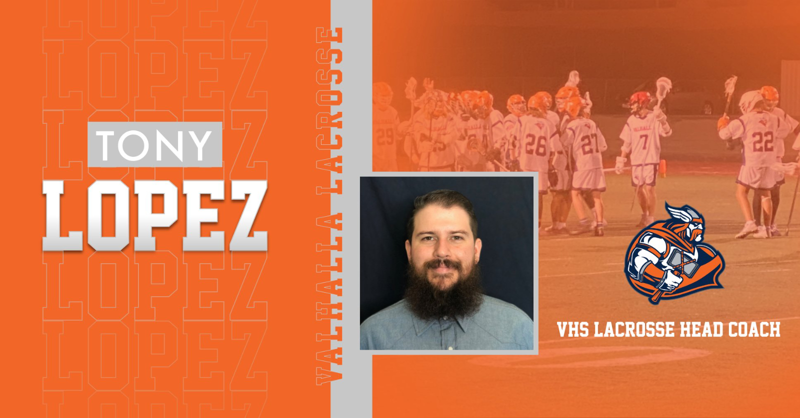 Welcome New VHS Men's Lacrosse Head Coach