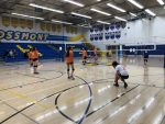Girls Freshman Volleyball beats Grossmont 2-0 and 2-0 in a double header