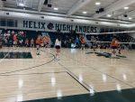 Girls Junior Varsity Volleyball beats Helix 2 – 1