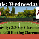 TENNIS:  Wednesday 3/21