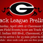 Palomares Track League Prelims – April 28th @ Claremont HS 8:30 am