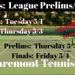 Tennis:  League Prelims