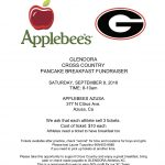 Applebee's  Pancake Breakfast Fundraiser – Saturday, September 8th