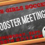 Girls Soccer Booster Meeting