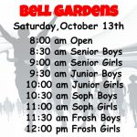 Bell Gardens Invitational – Saturday, October 13, 2018