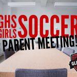 Girls Soccer Parent Meeting