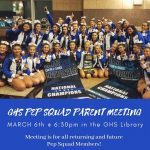 GHS Pep Squad Parent Info Meeting