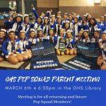GHS Pep Squad Parent Info Meeting
