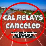 Cal Relays Canceled