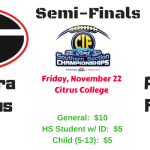 Tartan Football:  Semi-Finals