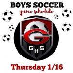 Boys Soccer 1/16