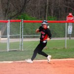 4/18/2017 Lady Warriors Varsity Softball defeat Beavercreek 8-7