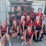 7th grade cheer ready for their away game!