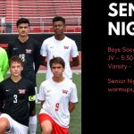 Senior Night – Boys Soccer