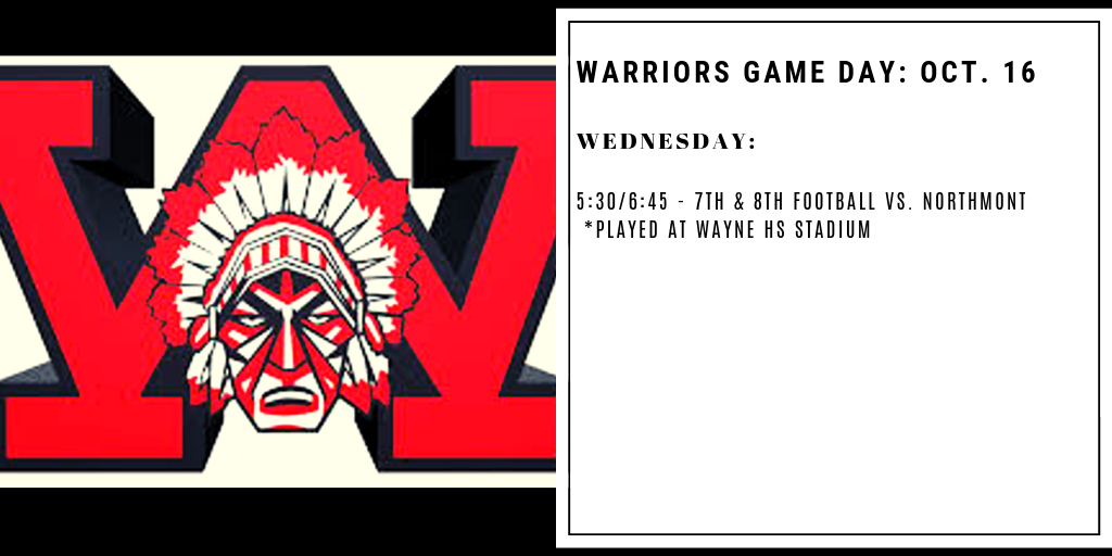 Warriors Game Day – Oct. 16