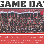 Varsity Football – Hall of Fame Game