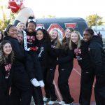 Varsity Cheer with their Senior!!!  (Senior Night)