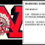 Warriors Game Day – Dec. 5