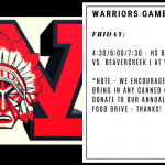 Warriors Game Day – Dec. 6